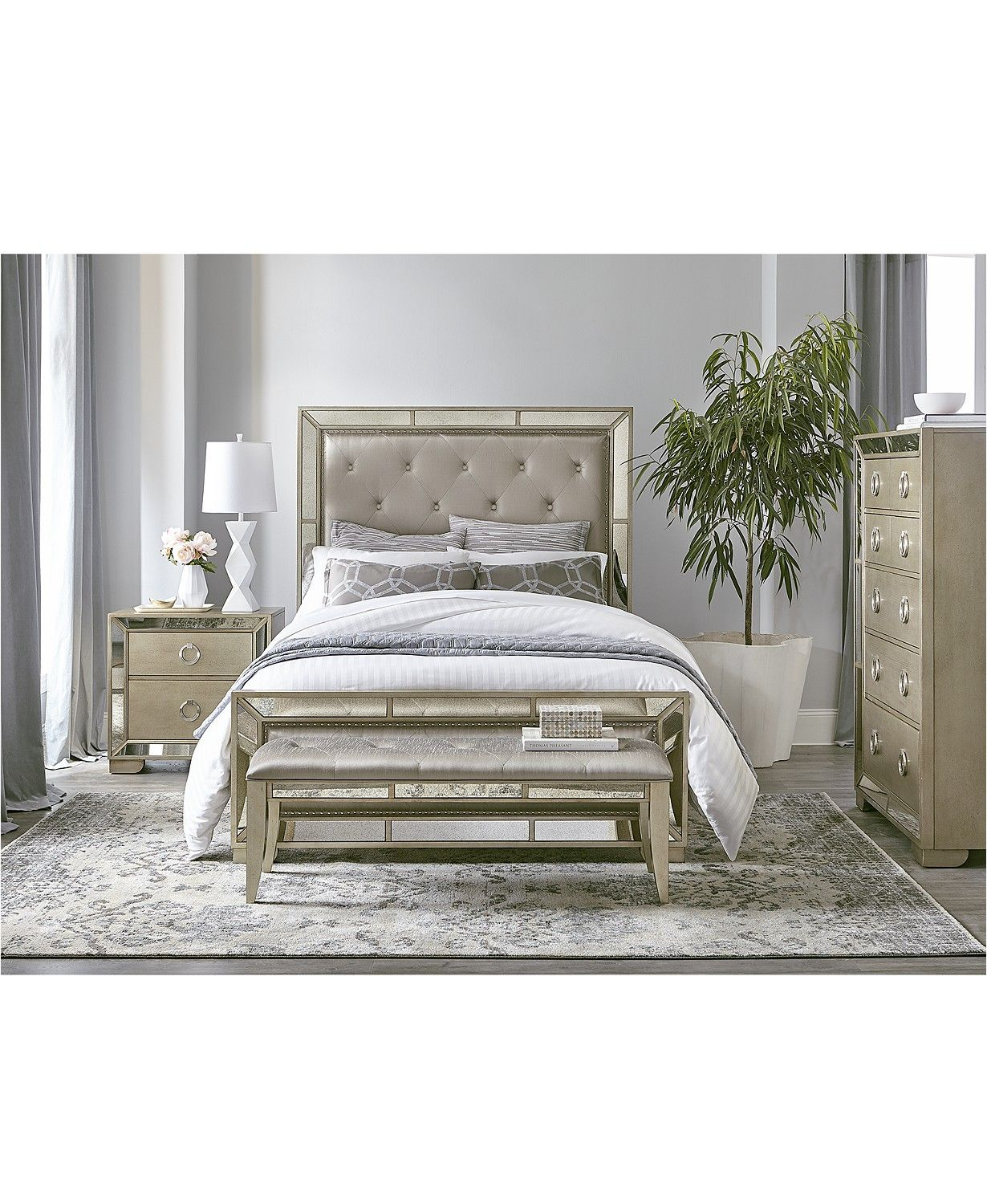 Magnified Main Image Mirrored Bedroom Furniture Bedroom Collections Furniture Bedroom Furniture Sets