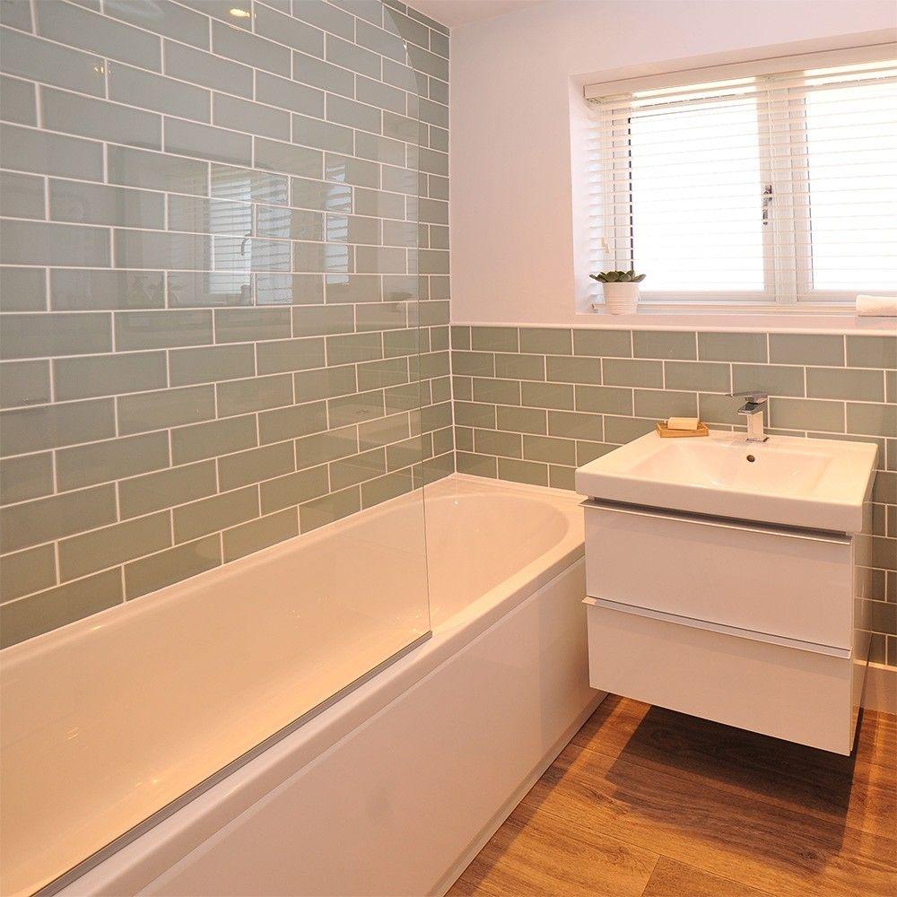 Aquarelle 300x100 Pistachio Green Tiles Brick tiles