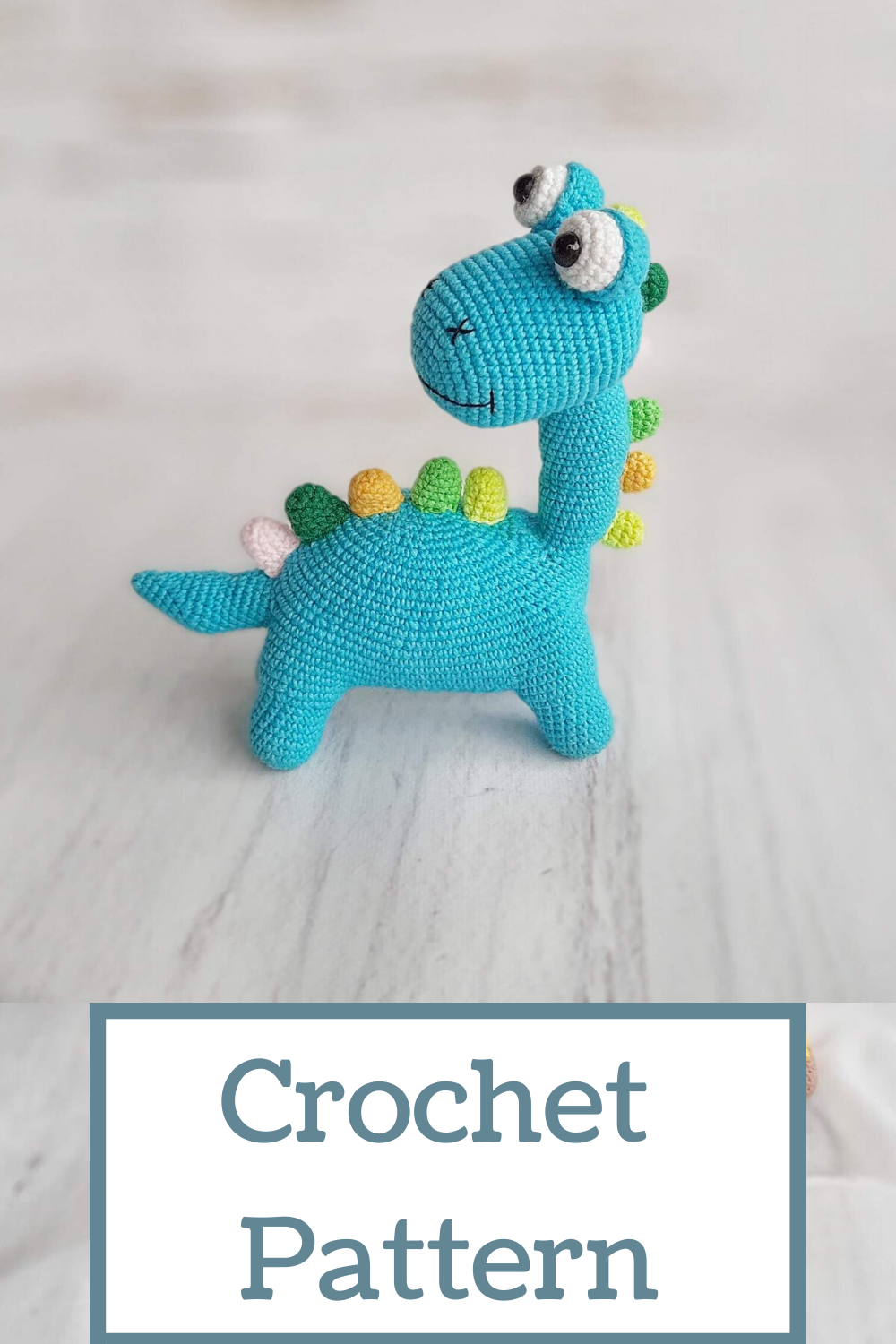 Crochet Pattern Dinosaur / Knitting Pattern Dinosaur in English Crochet Toy Amigurumi