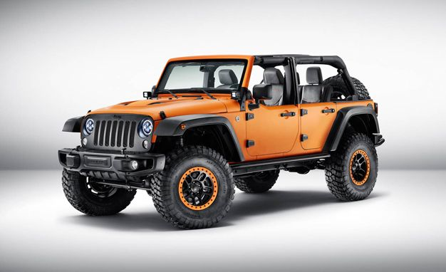 Jeep Wrangler Sunriser Concept Is Hellaciously Orange Jeep
