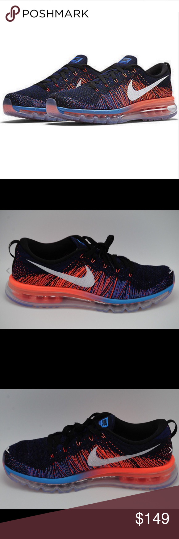 new concept 68f34 03b00 ... switzerland nike flyknit air max running mans shoes nike mens low top  sneaker lace up b0e1d
