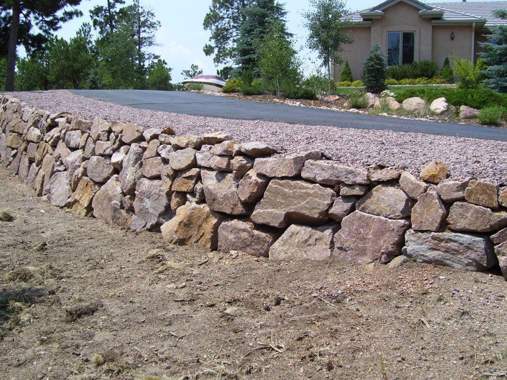 Menzer Granite Retaining Walls Fredell Enterprises Stone Retaining Wall Retaining Wall Outdoor Walls
