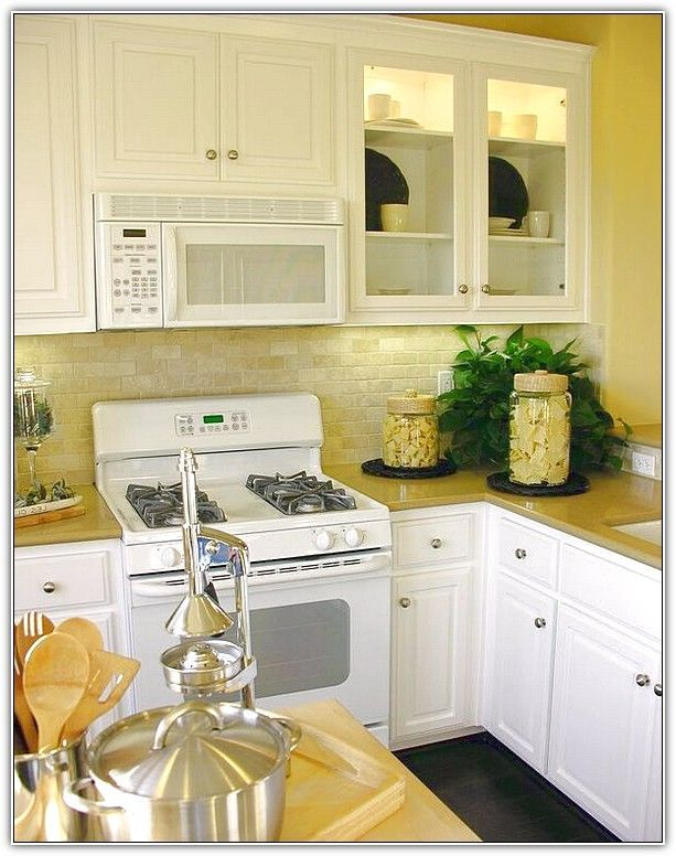 White kitchen cabinets offer the most timeless look and ...