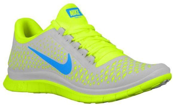 Nike Free Run 3.0 V4 Platine Pur / Préchauffage Volts Bleu