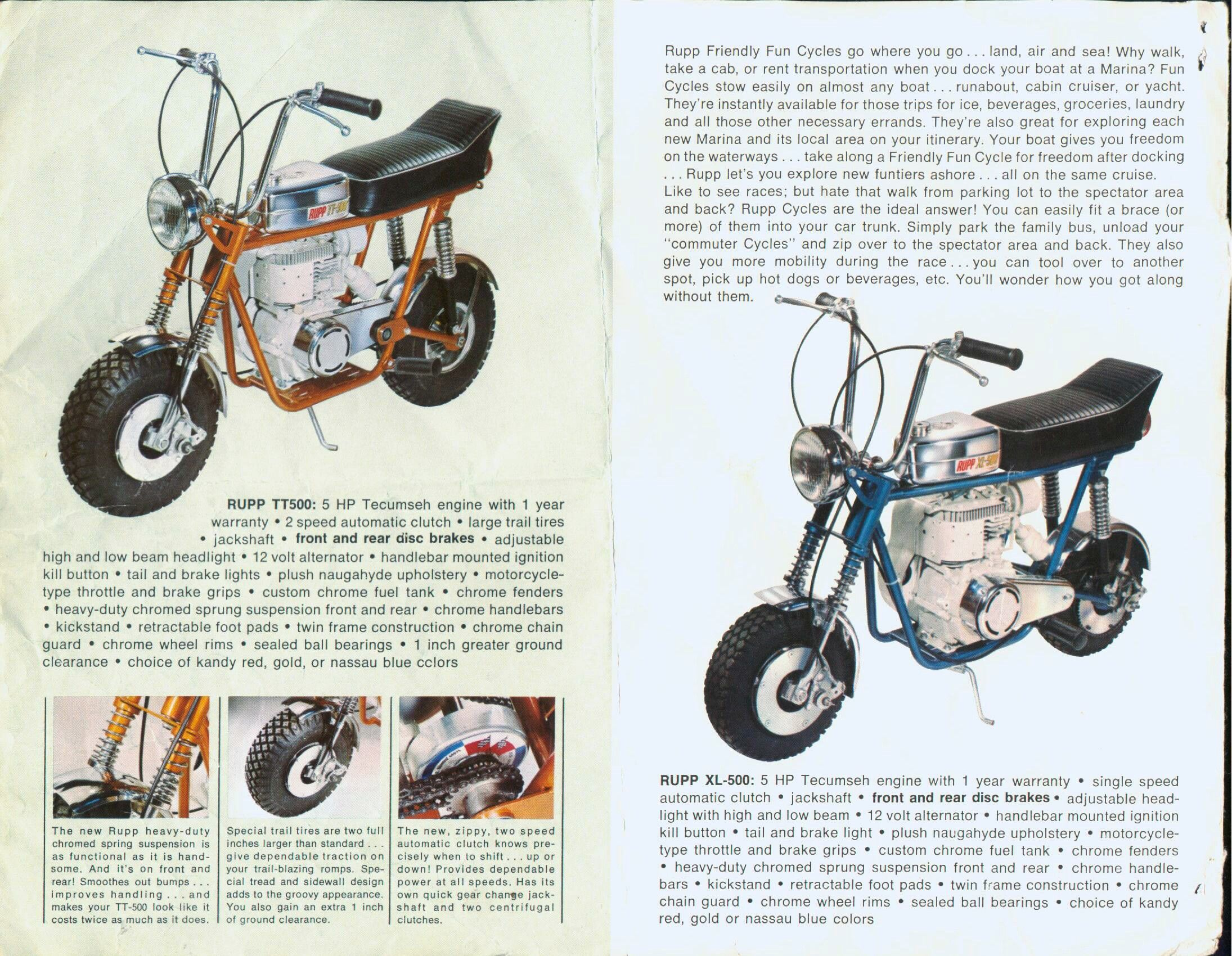 Rupp TT500 & XL500 | Rupp & other vintage mini bikes | Pinterest ...