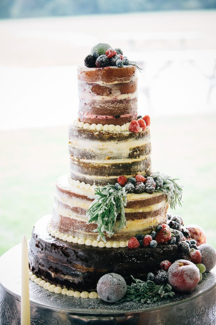 Naked Wedding Cake // by Sweet & Savory Catering - Indianapolis ...