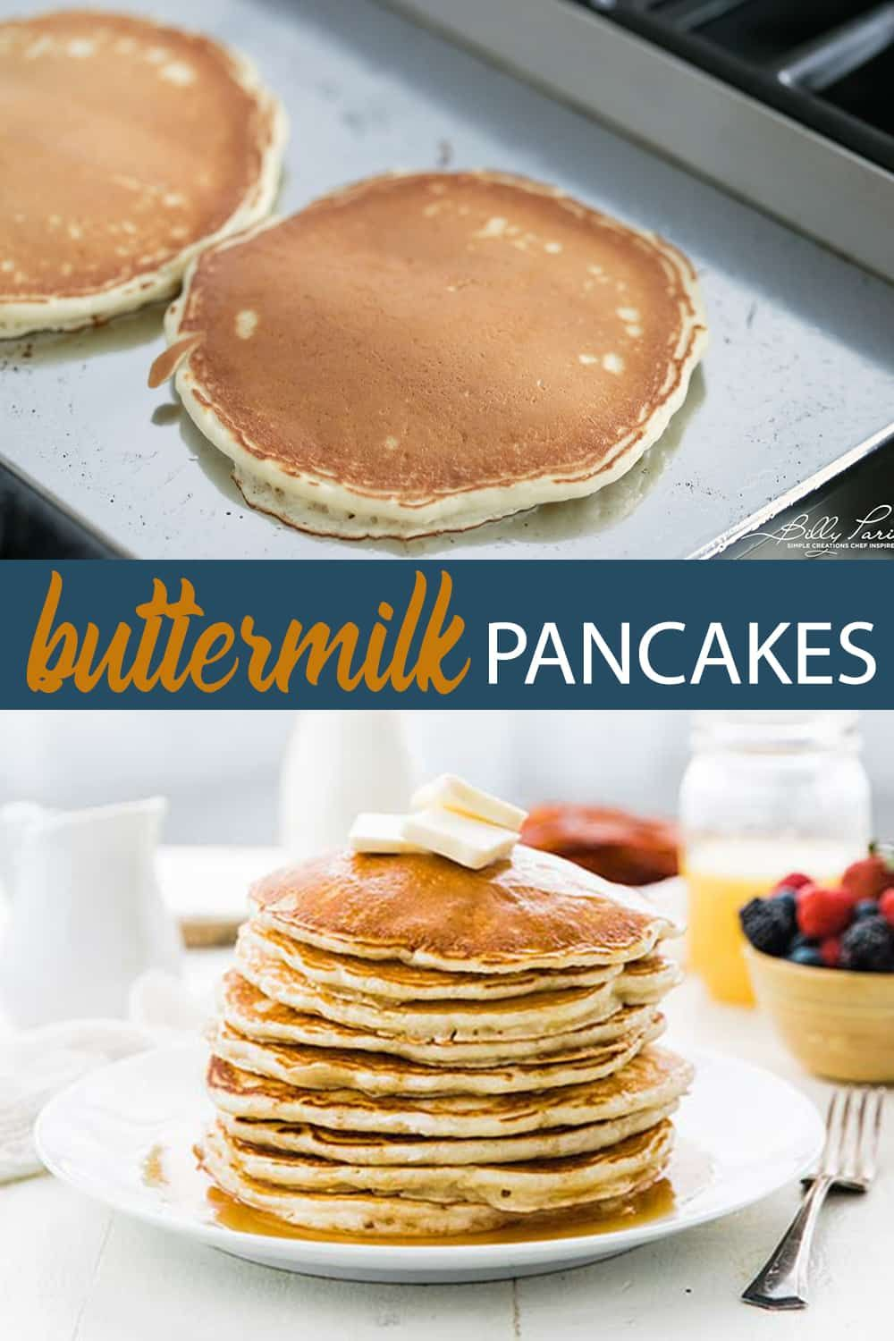 Homemade Buttermilk Pancakes Recipe Chef Billy Parisi Recipe Homemade Buttermilk Pancakes Cheesecake Recipes Easy Homemade Homemade Buttermilk