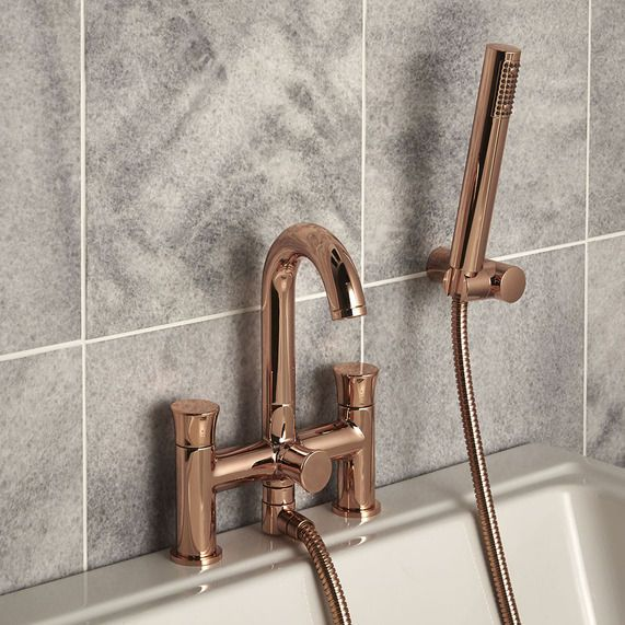 Transition Rose Gold Bath Shower Mixer Bathstore Bath Shower Mixer Shower Bath Bathroom Taps