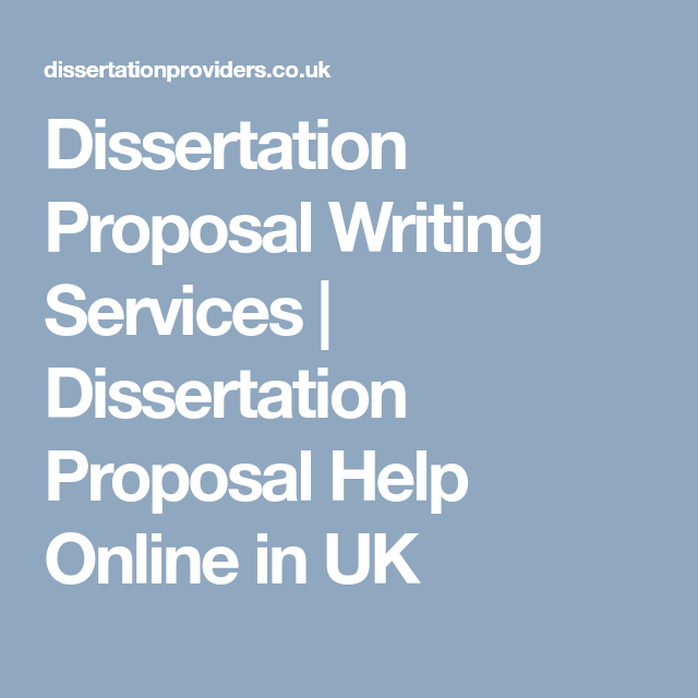 Dissertation Proposal Writing Services