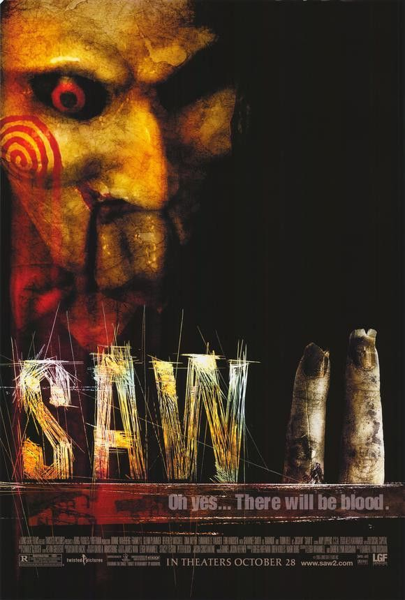 Saw 2 27x40 Movie Poster 2005 With Images Saw Film Saw Ii