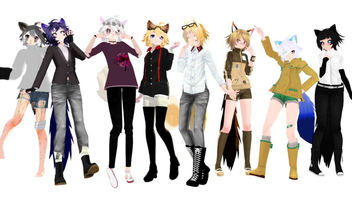 Pin by phone guy on mmd wips and other things | Wolf, Model, Fox