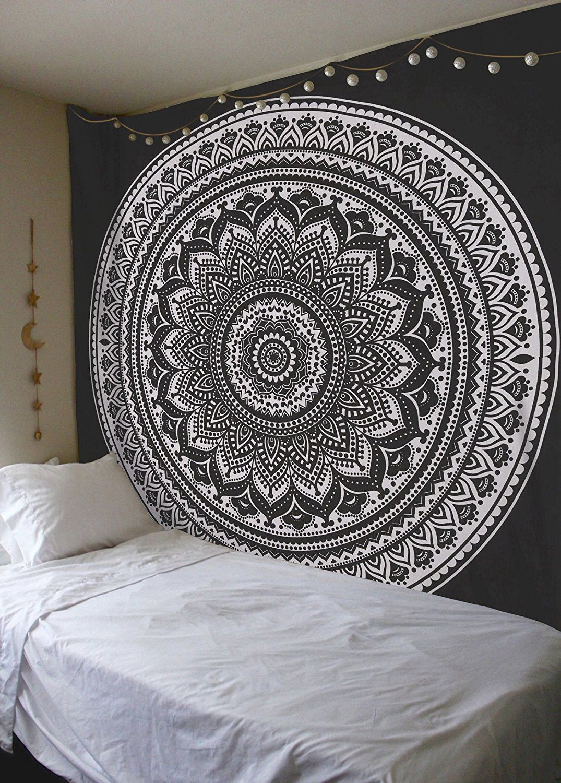 Madhu International Exclusive 100 Cotton Black White