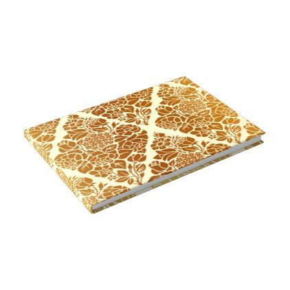 Vintage,gold,damask,floral,pattern,elegant,chic,be Guest Book - sample guest book template