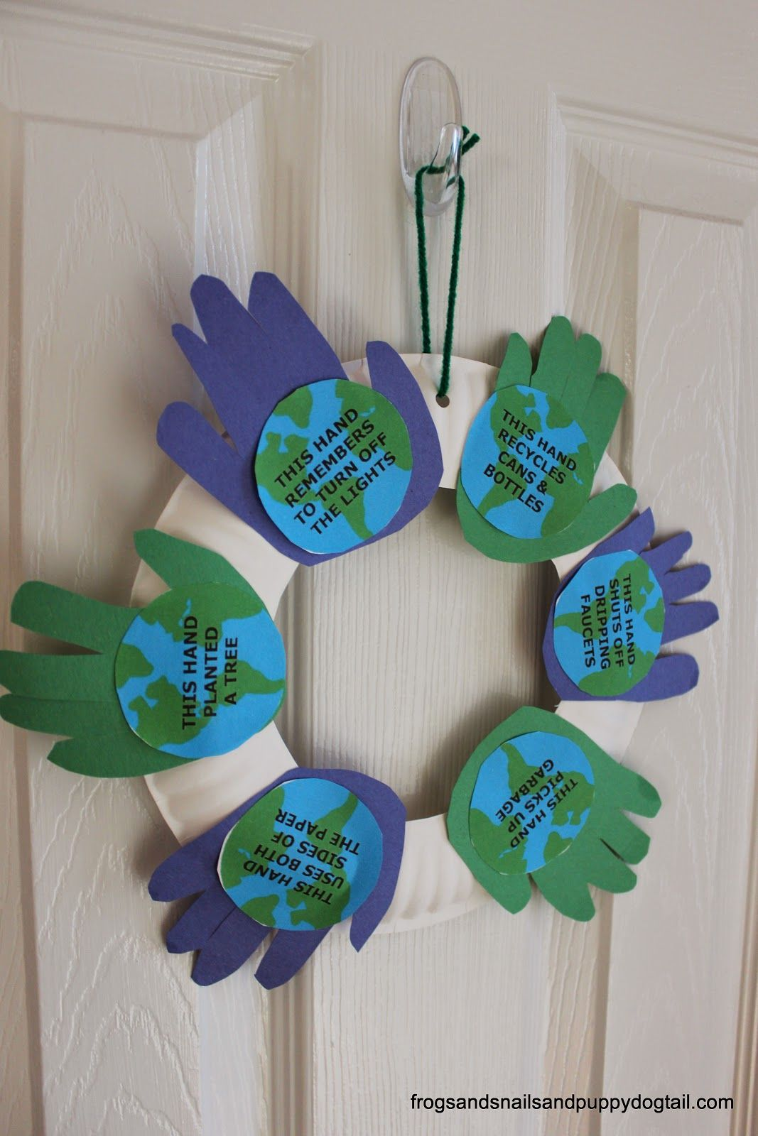 Handprint Wreath For Earth Day Kid Craft