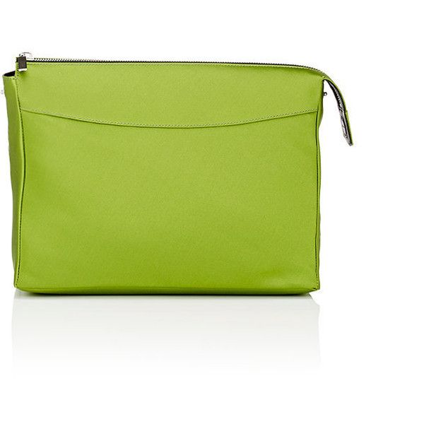 The Row Women's Two For One Pouch 12 (1,130 CAD) ❤ liked on Polyvore featuring bags, handbags, clutches, green, pouch purse, green purse, shoulder handbags, pouch handbag and the row purse