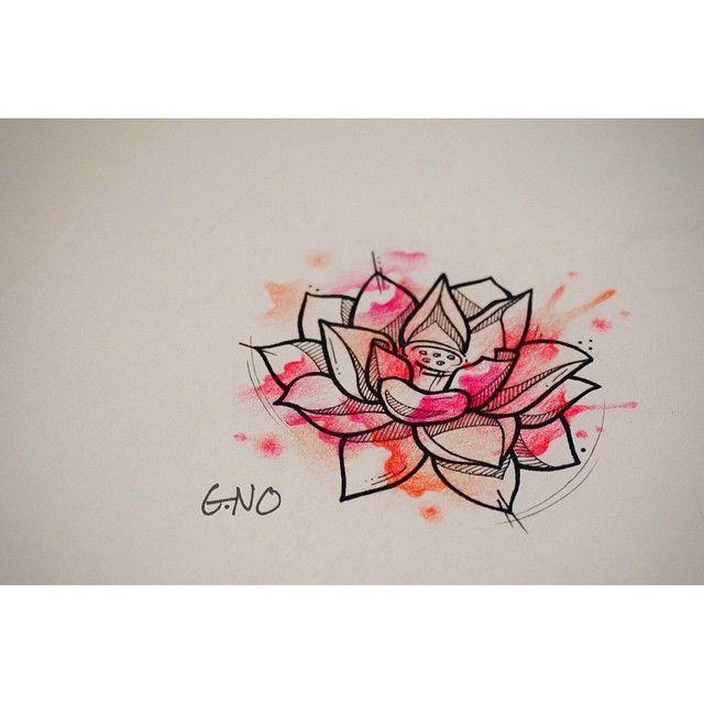 흔한연꽃. 흔하지않은연꽃.  #tattoo #tattoopeople #gnotattoo #busan #drawing #painting #design #daily #flower #lotus #lotusflower #연꽃#수채화 #느낌#그림#디자인#도안#타투피플#부산타투 #서면#꽃#좋아하는