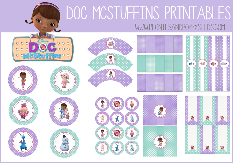 AWESOME!! Free printable!! Doc McStuffins Birthday Party Printables | Peonies and Poppyseeds