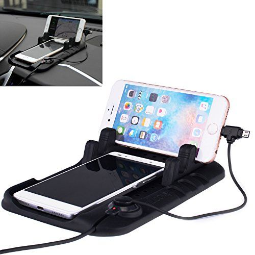Universal Slot Smartphone Car Mount Holder Cradle Silicone Pad For Phone GPSTablets and 2 in 1 Charging Cable ** You can find out more details at the link of the image. (This is an affiliate link and I receive a commission for the sales)