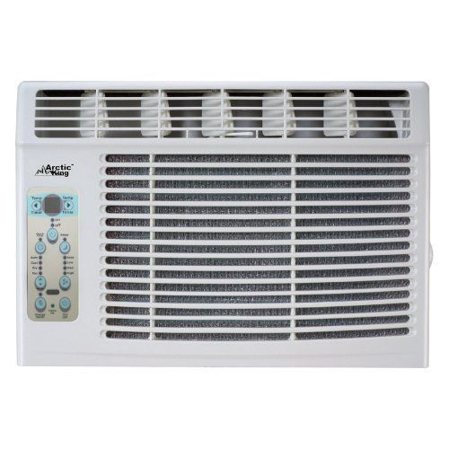Arctic KingMWK-06CRN1-B 6000 BTU window-mounted air conditioner by Jensen Distribution Services. $199.99. 6000 BTU window-mounted air conditioner. One-touch remote control allow adjustment from distance. 3 fan speeds for custom cooling. 115V voltage rating and 4.9 amps current rating. Ideal for a room of 250 sq. ft.. Bring home comfort with the Arctic King MWK-06CRN1-B 6000 BTU window-mounted air conditioner which removes both heat and humidity from the house. This air condit...