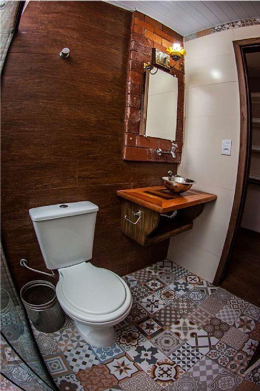 banheiros pequenos rusticos  Pesquisa Google …  Banheiros  Pinterest  Ban -> Banheiro Rustico Pequeno