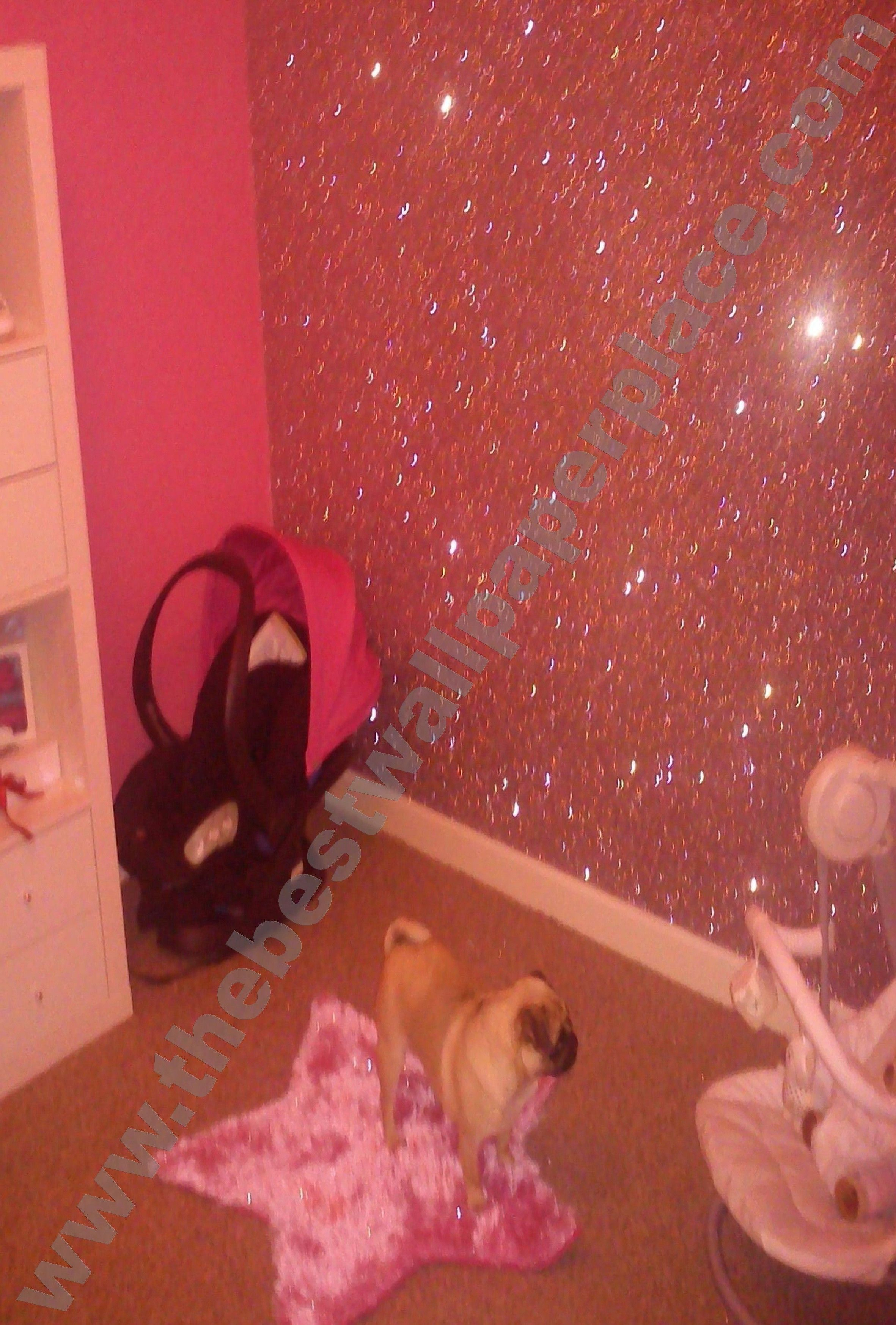 Sparkle Shades of Pink Glitter Wallpaper Wallpaper