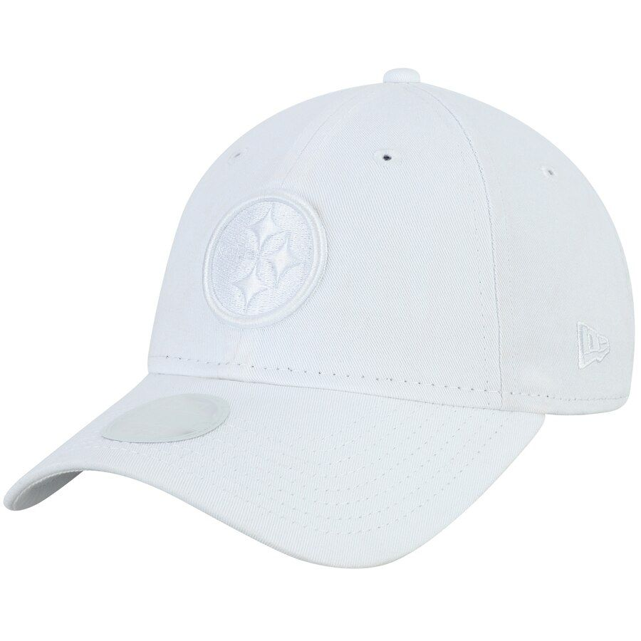promo code e959d a95d0 Pittsburgh Steelers New Era Women s Core Classic White Tonal 9TWENTY  Adjustable Hat - White,