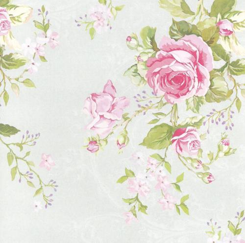 Fondo grisaseo muy claro con rosas rosadas