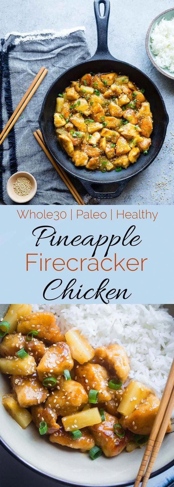 Whole30 Firecracker Pineapple Chicken - This healthy, sweet and spicy chicken is...