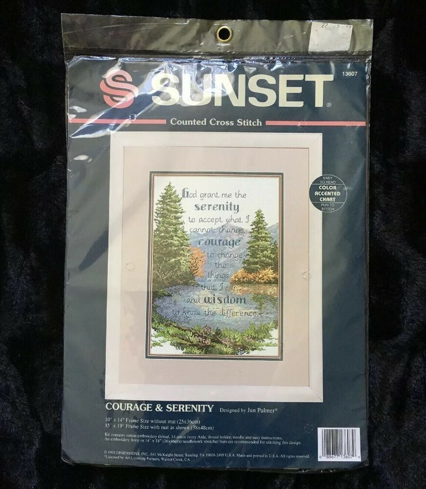 "Janlynn Serenity Lighthouse Counted Cross Stitch Kit-7/""X10/"" 14 Count"