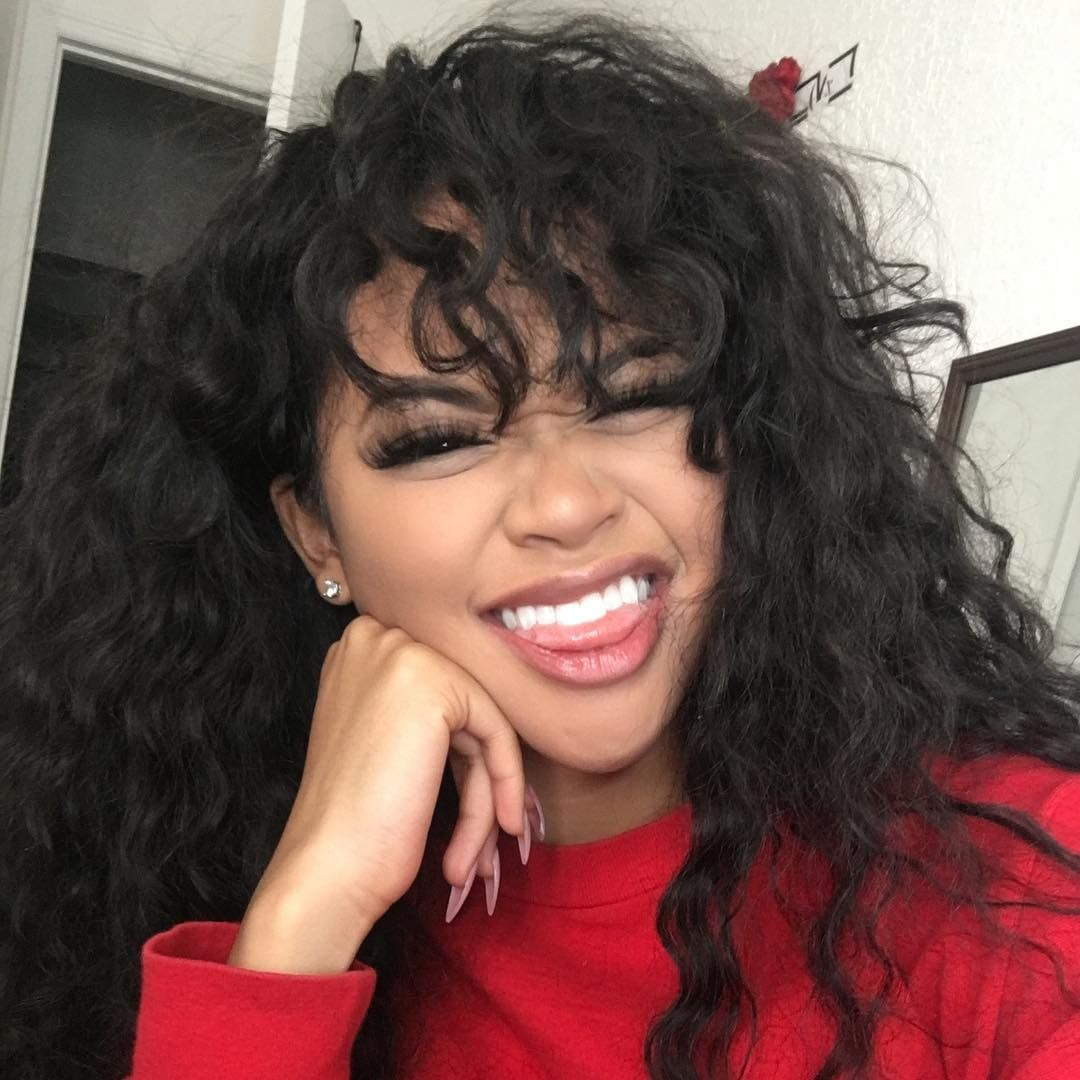 beautiful long curly hairstyles with bangs human hair wigs