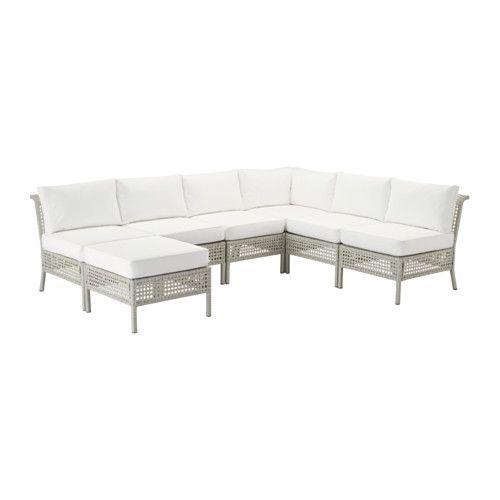 kungsholmen kungs ecksofa 3 3 hocker au en hellgrau wei ikea bauen wohnen pinterest. Black Bedroom Furniture Sets. Home Design Ideas