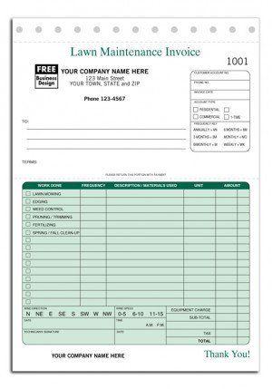 123 Lawn Maintenance Invoice Form Lawncare Lawn Care Lawn