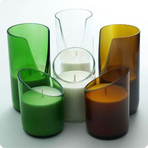 Bsab Candles uses reclaimed beer bottles as the holder for these soy candles. They smell amazing too.