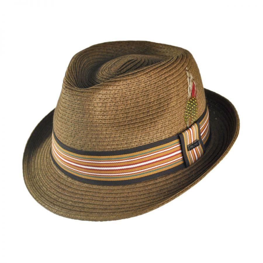 c2b7fecd Ridley Toyo Straw Trilby Fedora Hat | Men's Hats | Hats, Jaxon hats ...