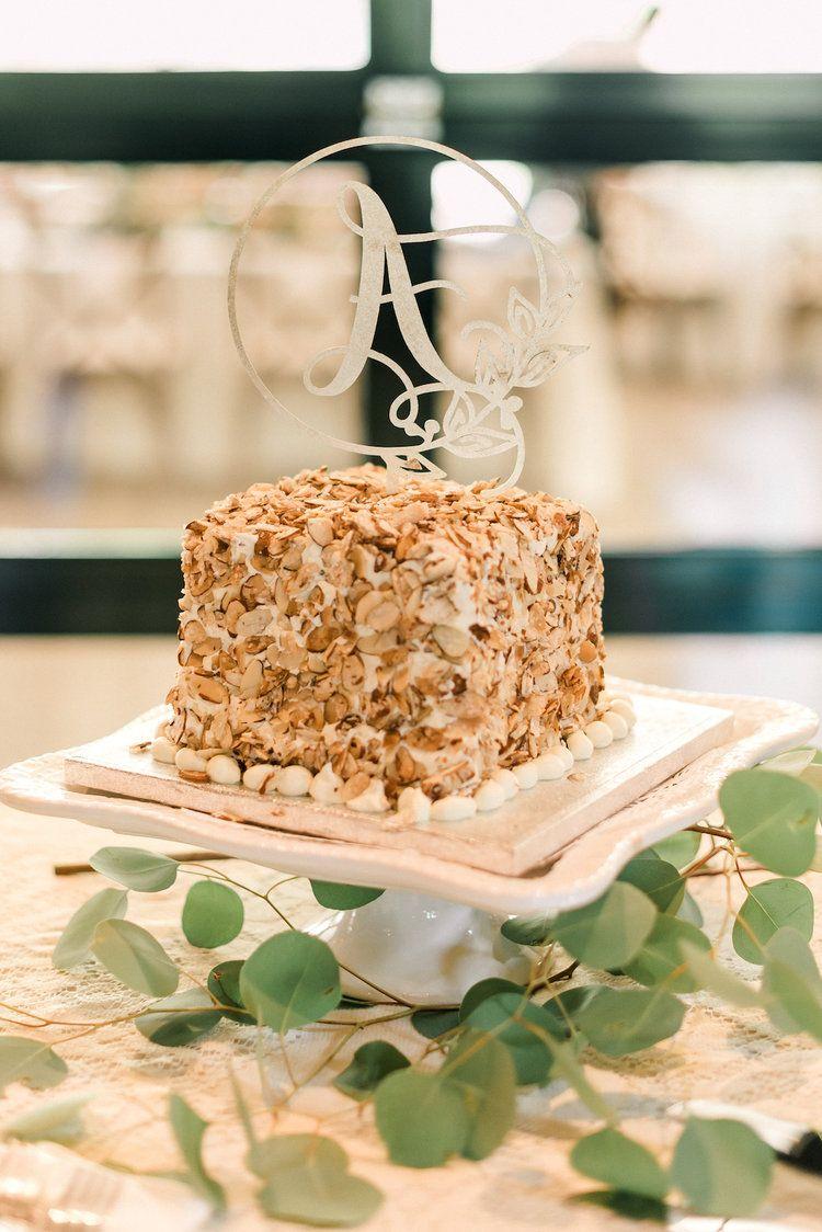 Burnt almond torte wedding cake romantic delicate summer