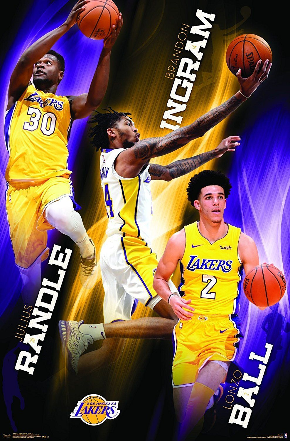 Los Angeles Lakers Bright Future 22x34 Basketball Poster ...