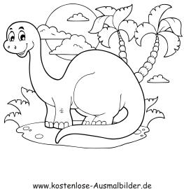 Ausmalbild Dinosaurier Ausdrucken