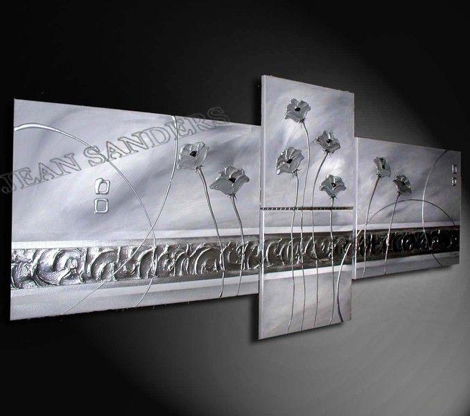 """Produktbeschreibung    Künstler:  JEAN SANDERS  """"Synphonie of Flowers""""  130x60 cm    Material:  Acrylfarben, Schlussfirnis Spachtelmasse  Malgrund:"""