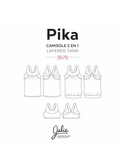 PIKA Sport Bra and Layered Blouson Tank | Jalie 2016/2017 Collection ...