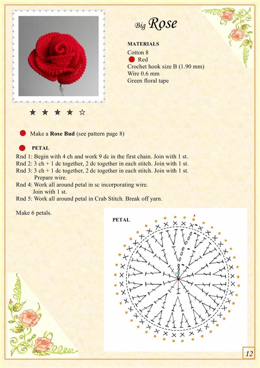 Альбом «The Book of Crochet Flowers». Обсуждение на LiveInternet ...