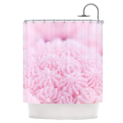 KESS InHouse Cupcake Pink Shower Curtain