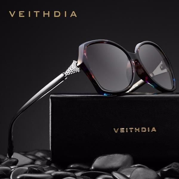 a6518c3ef0  BestPrice  Fashion VEITHDIA Retro Womens Sunglasses Polarized Luxury  Crystal V3027  Discounts  BestPrice