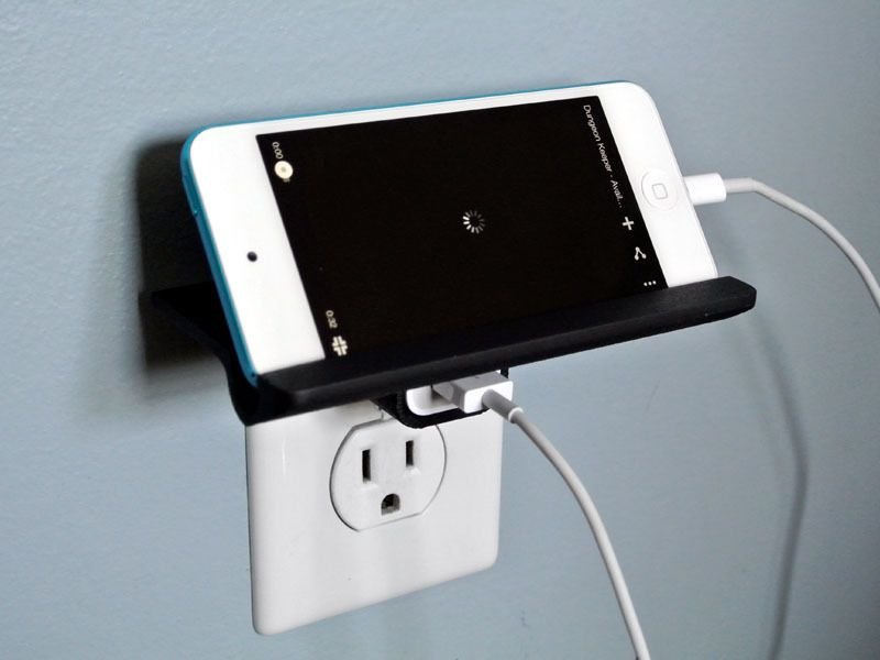 Smartphone Outlet wall outlet shelftosh http://thingiverse/thing:279173 | 3d