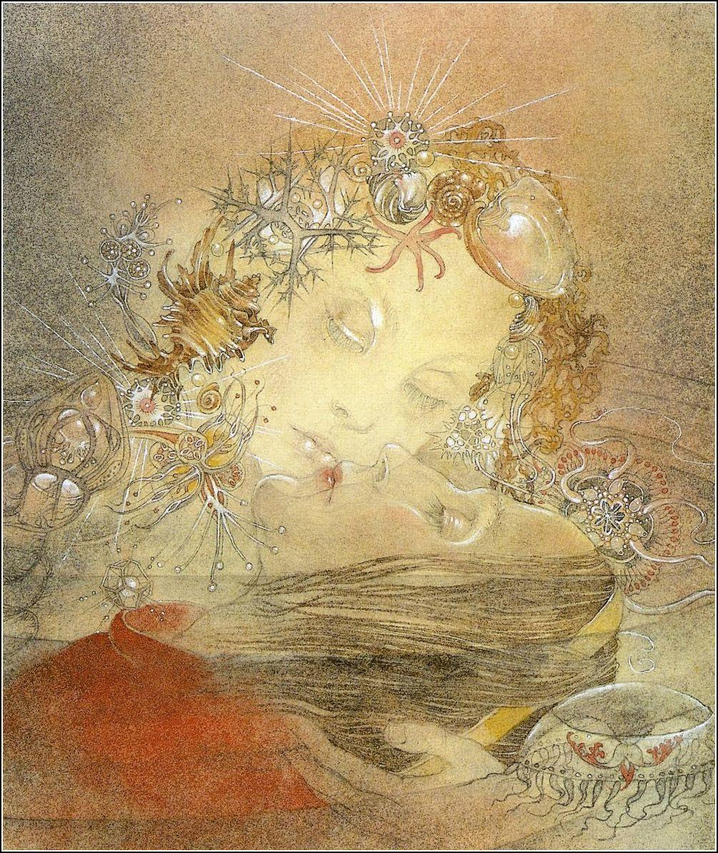 Hans Christian Andersen The Little Mermaid Die Kleine Seejungfrau Wuppertal Elberfeld 1953 Illustrated By Sulamith Wulfing Art Fairytale Art Painting