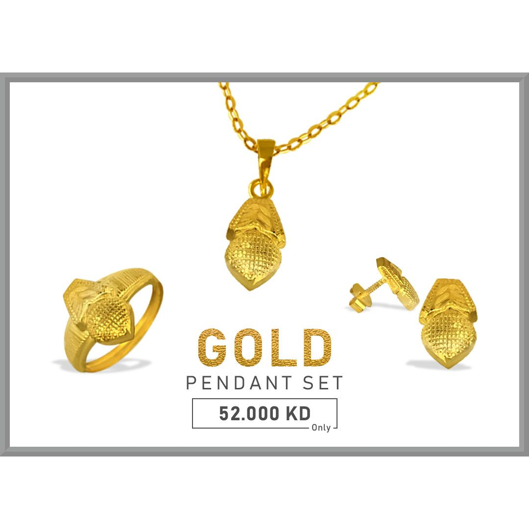 Bring happiness for your loved one by gifting this pendant set get