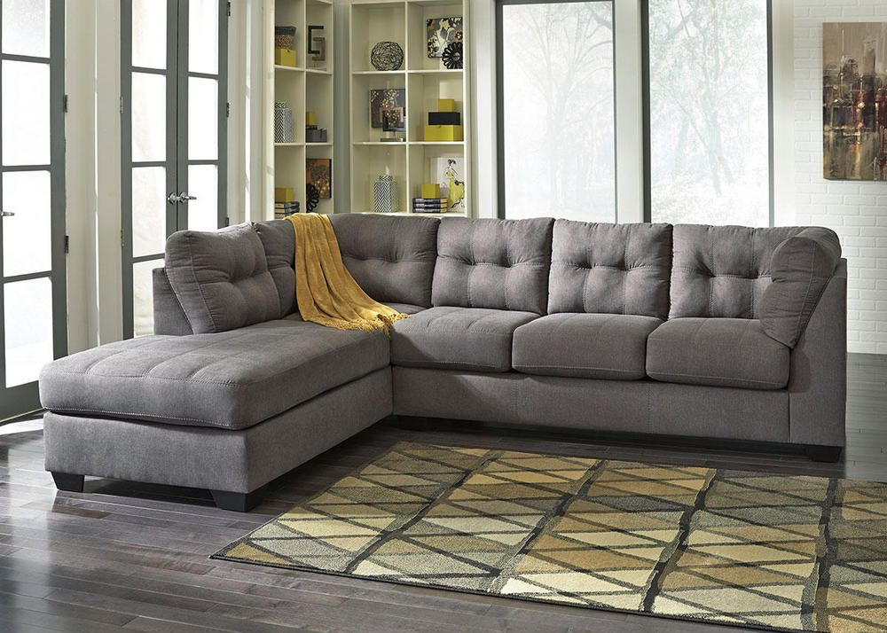 Marlo Charcoal 2 Pc. Sectional With Full Sleeper (Reverse)   Altview1