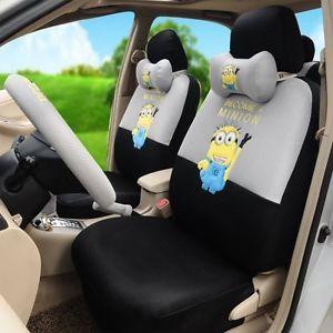 despicable me minions car seat covers accessories set 18pcs tl15 77h. Black Bedroom Furniture Sets. Home Design Ideas