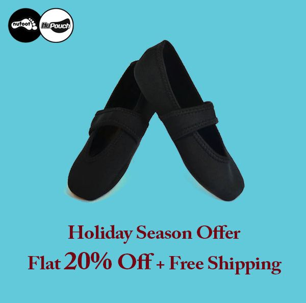 Black Betsy Lou NuFoot  Shop Now !  Holiday Season Offer : Flat 20% Off Plus Free Shipping.