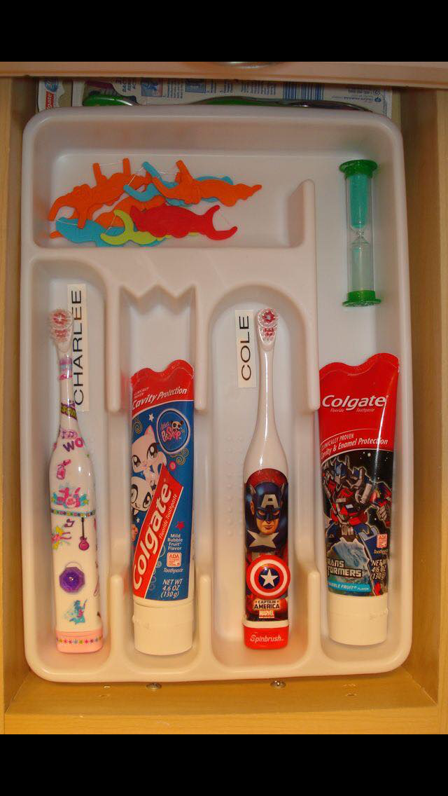 This Is The BEST Organization Idea For A Bathroom. Even Better.for A Kids  Bathroom. Much Better Than Counter Or Cabinet! Saves Germ Exchange Since  They Will ...