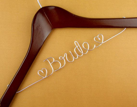 promotion Personalized wedding Hanger Wire Name by haomaihanger